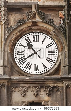 Old tower clock