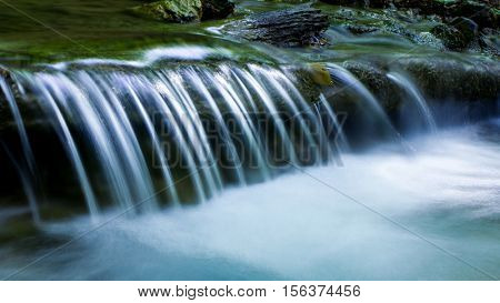 nice cascade of small waterfall