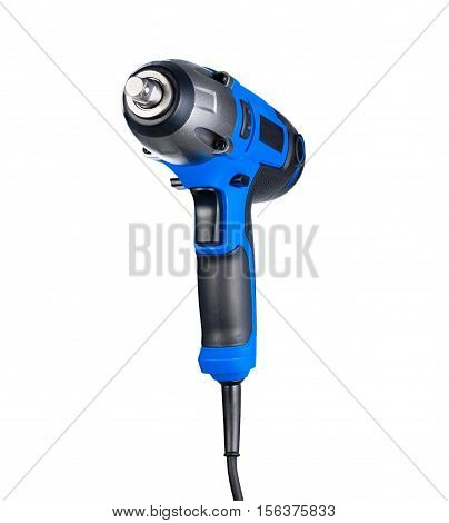 Blue impact gun isolated on white background