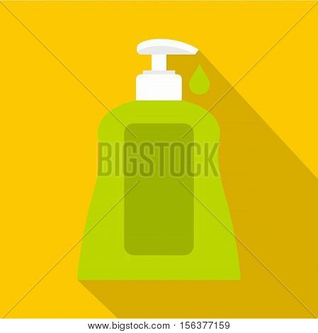 Body care lotion icon. Flat illustration of body care lotion vector icon for web design