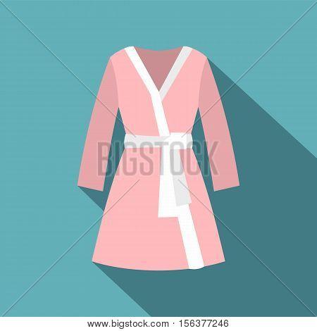 Bathrobe icon. Flat illustration of bathrobe vector icon for web design