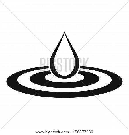 Water drop and spill icon. Simple illustration of drop vector icon for web design