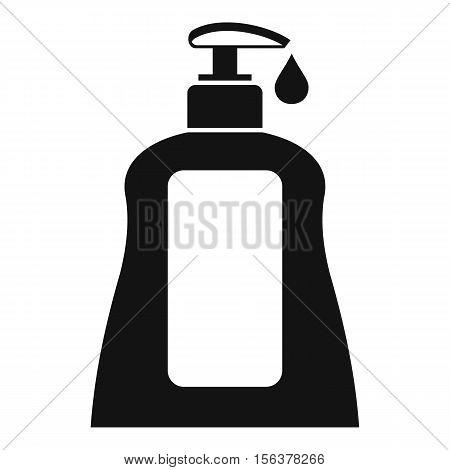 Body care lotion icon. Simple illustration of body care lotion vector icon for web design