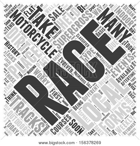 The History of Supercross Motorcycle Racing word cloud concept