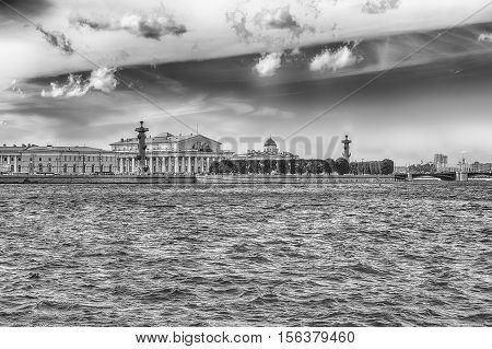 View Of The Spit Of Vasilievsky Island, St. Petersburg, Russia