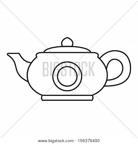 Teapot icon. Outline illustration of teapot vector icon for web design