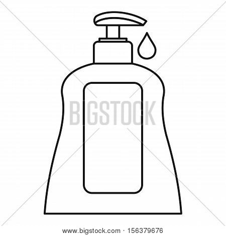 Body care lotion icon. Outline illustration of body care lotion vector icon for web design