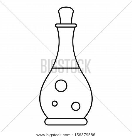 Massage oil icon. Outline illustration of massage oil vector icon for web design