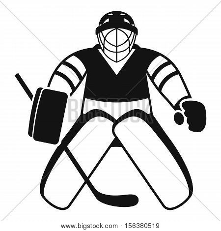 Hockey goalkeeper icon. Simple illustration of hockey goalkeeper vector icon for web