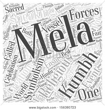 The Kumbh Mela word cloud concept text background