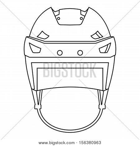 Hockey helmet icon. Outline illustration of hockey helmet vector icon for web