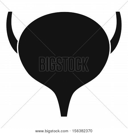 Bladder icon. Simple illustration of bladder vector icon for web
