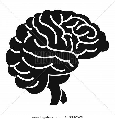 Brain icon. Simple illustration of brain vector icon for web