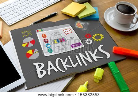 Backlinks Technology Online Web Backlinks Technology Online Web Businessman