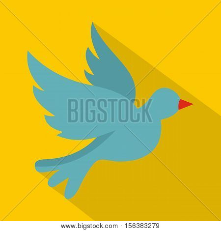 Dove icon. Flat illustration of dove vector icon for web