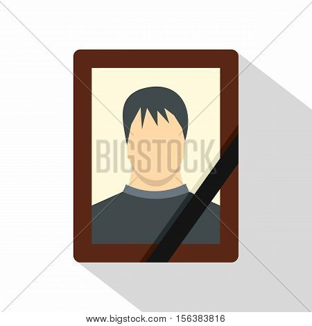 Memory portrait icon. Flat illustration of memory portrait vector icon for web