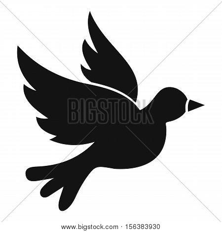 Dove icon. Simple illustration of dove vector icon for web
