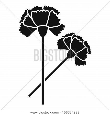 Carnation icon. Simple illustration of carnation vector icon for web