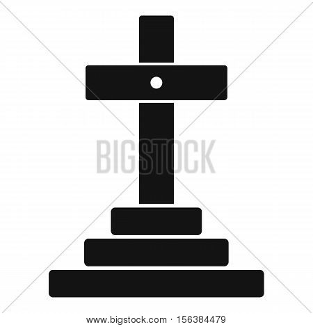 Grave icon. Simple illustration of grave vector icon for web