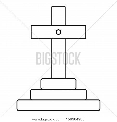 Grave icon. Outline illustration of grave vector icon for web