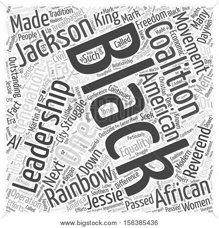 The Rainbow Coalition word cloud concept text
