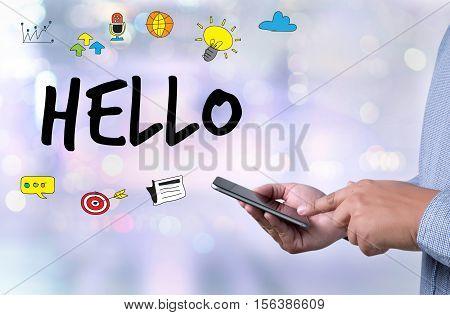 Hello Hi People Greeting  Communication Saying Hello In English