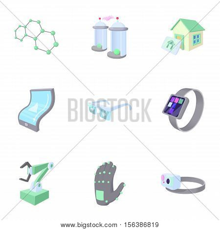 Innovation icons set. Cartoon illustration of 9 innovation vector icons for web
