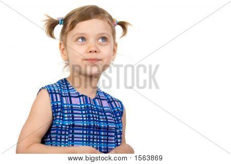 Pretty Fun Child Look In Up