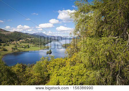 Loch Tummel seen from Queen's View - Perthshire Scotland