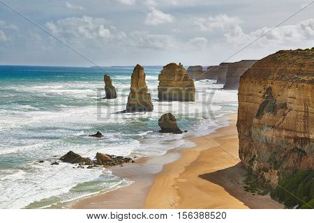 Twelve Apostles in Port Campbell National Park, Australia