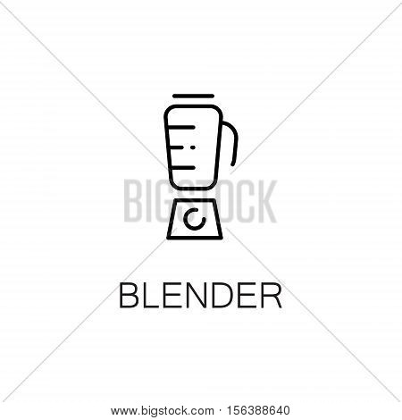 Blender  flat icon. Single high quality outline symbol of kitchen equipment for web design or mobile app. Thin line signs of blender for design logo, visit card, etc. Outline pictogram of blender.