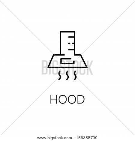 Hood flat icon. Single high quality outline symbol of kitchen equipment for web design or mobile app. Thin line signs of hood for design logo, visit card, etc. Outline pictogram of hood