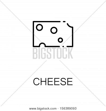 Cheese flat icon. Single high quality outline symbol of milk food for web design or mobile app. Thin line signs of cheese for design logo, visit card, etc. Outline pictogram of cheese