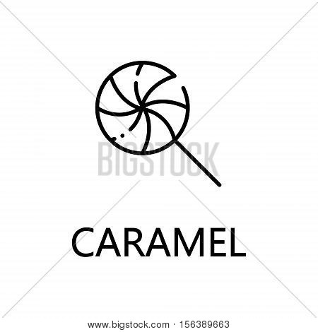 Caramel flat icon. Single high quality outline symbol of sweets for web design or mobile app. Thin line signs of caramel for design logo, visit card, etc. Outline pictogram of caramel