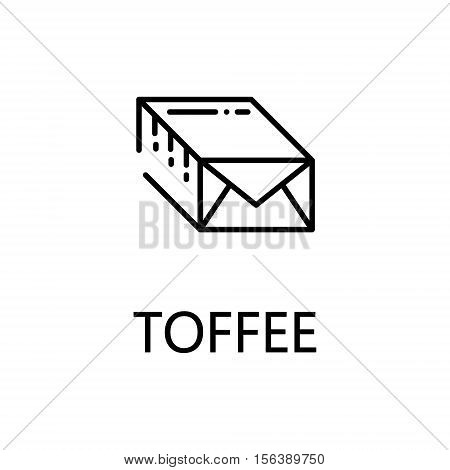 Toffee flat icon. Single high quality outline symbol of sweets for web design or mobile app. Thin line signs of toffee for design logo, visit card, etc. Outline pictogram of toffee