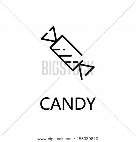 Candy flat icon. Single high quality outline symbol of sweets for web design or mobile app. Thin line signs of candy for design logo, visit card, etc. Outline pictogram of candy