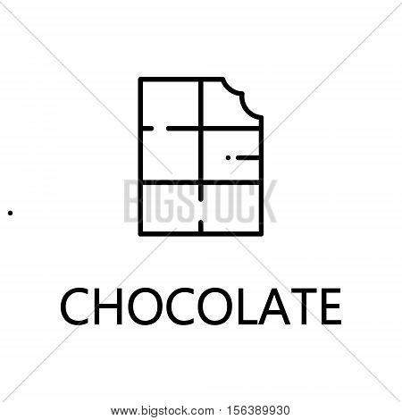 Chocolate flat icon. Single high quality outline symbol of sweets for web design or mobile app. Thin line signs of chocolate for design logo, visit card, etc. Outline pictogram of chocolate