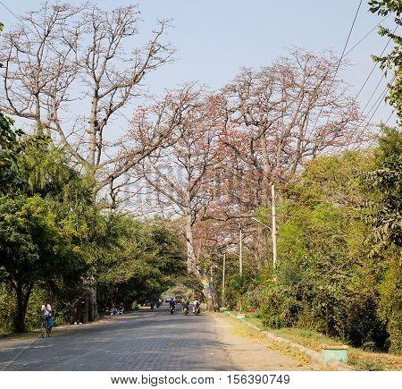 View Of Street In Mandalay, Myanmar