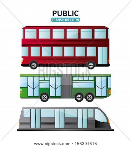 Bus cable car and railways vehicle icon. Public Transportation travel and ride theme. Isolated and colorful design. Vector illustration
