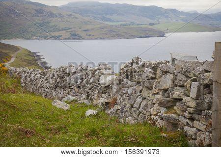 Dry wall in the north of Scotland Thurso Scotland