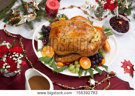 Roasted Turkey For Christmas Dinner