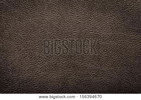 Deep brown leather texture or leather background. Leather sheet for making leather bag leather jacket furniture and other. Abstract leather pattern for design with copy space for text or image.