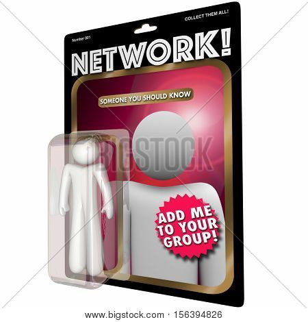 Network Action Figure Connect with People 3d Illustration
