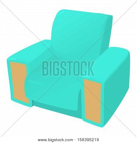 Arm chair icon. Cartoon illustration of arm chair vector icon for web