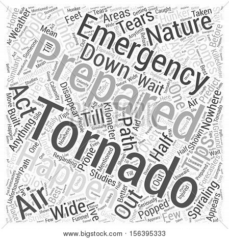 tornado emergency preparation word cloud concept text background