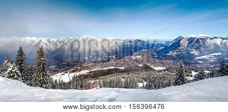 Panoramic Views Of The Alps And Garmisch-partenkirchen