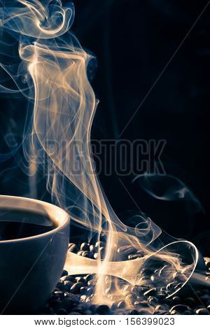 Smell Of Good Cofee From A Cup