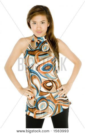 Funky Asian Woman