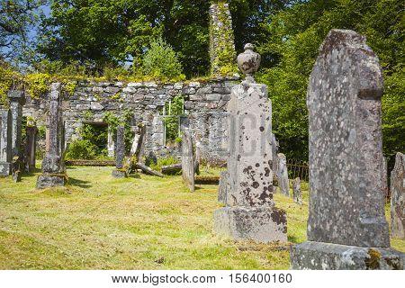 The Old cemetary of Lochcarron Strathcarron Scotland