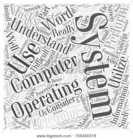 Understanding Your Operating System word cloud concept